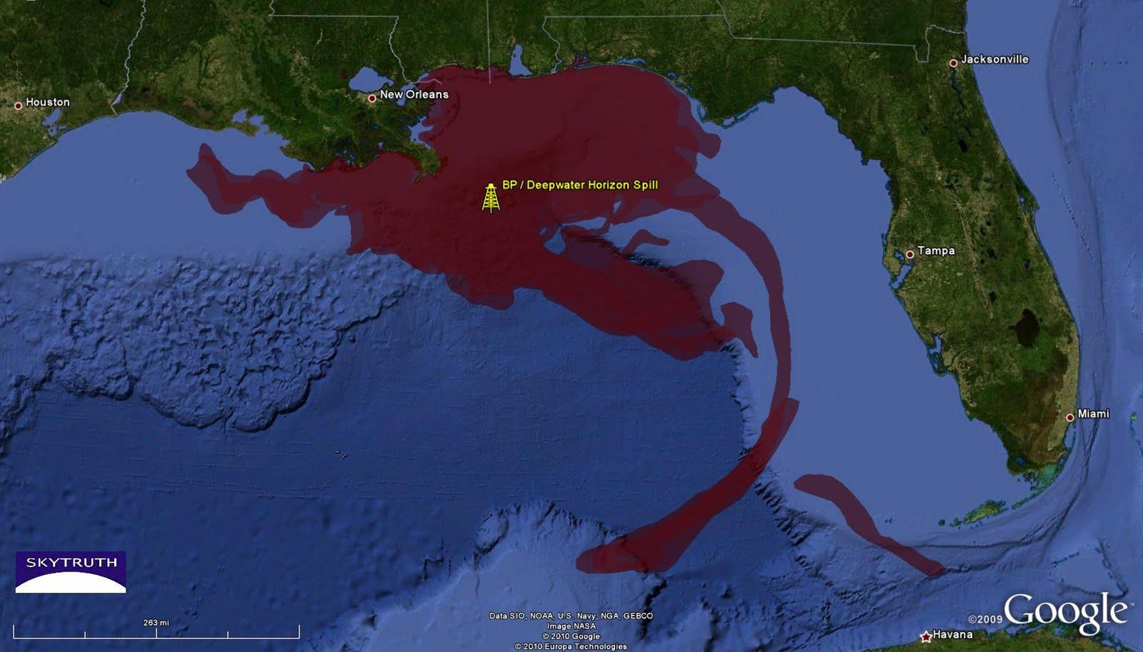 BP / Gulf Oil Spill – Cumulative Oil Slick Footprints – SkyTruth