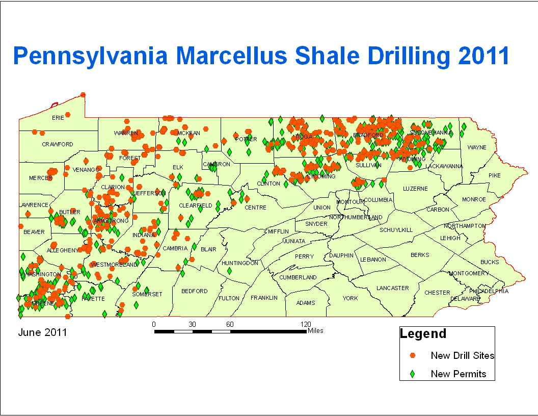 Marcellus Shale Hydrofracking Surface Water Impacts – SkyTruth