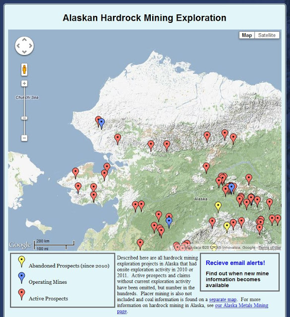 Interactive Map Of Alaska.Mining In Alaska New Interactive Map Skytruth