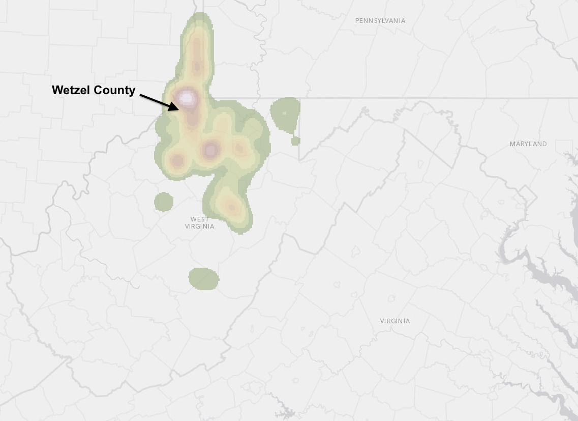 The West Virginia Hills: Flyover of Wetzel County Gas