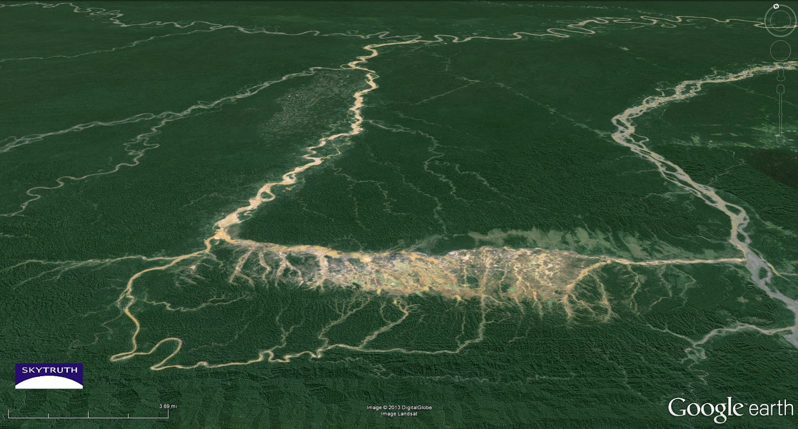 Damage from Gold Mining in the Amazon – Madre de Dios, Peru – SkyTruth