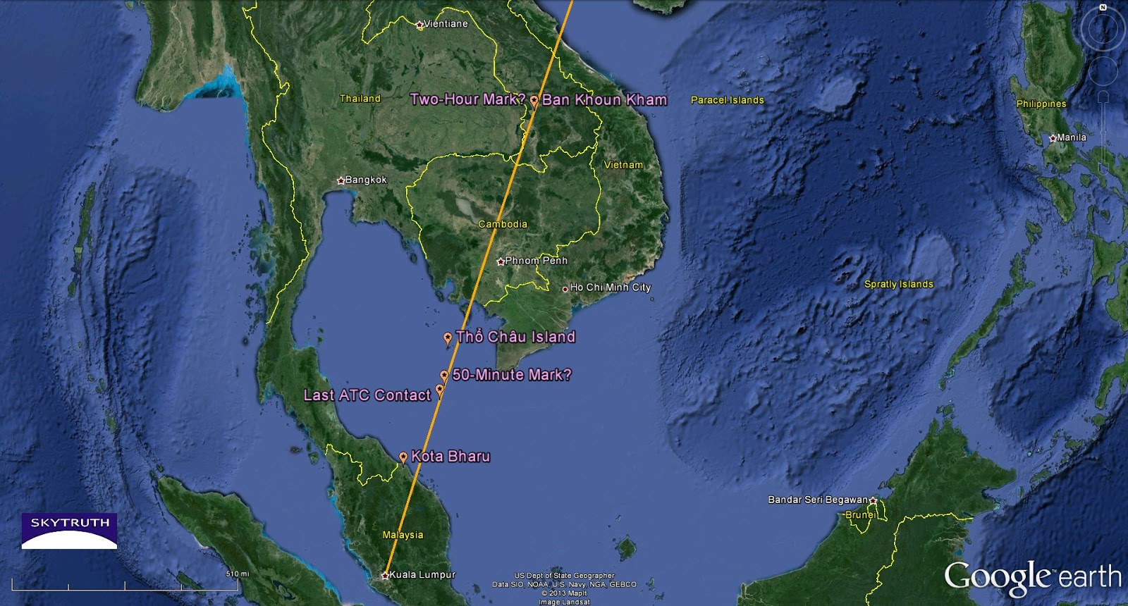 Where Is Malaysia Airlines Flight Mh370 Skytruth