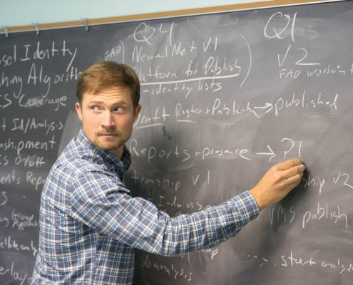 David Kroodsma at the Chalkboard, Outlining the Next Global Fishing Watch Projects