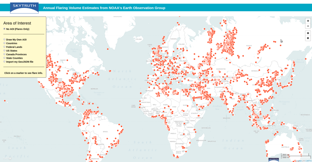 Interactive Map Detects Gas Flaring Volume Worldwide – SkyTruth