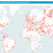 Global Flaring Volume Map