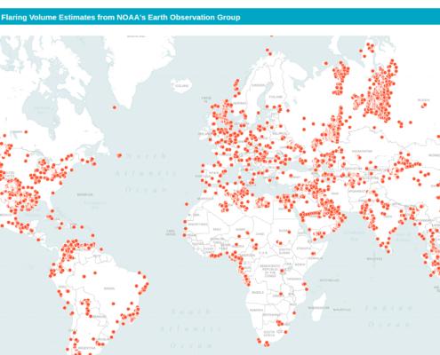 Global Flaring Volume Map