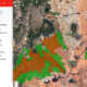 This map, created by SkyTruth (www.skytruth.org), shows the current boundaries of Bears Ears and Grand Staircase-Escalante National Monuments in green, and the proposed, reduced boundaries in red. Data was provided by The Wilderness Society and the Bureau of Land Management. Aerial images were provided by EcoFlight (www.ecoflight.org)