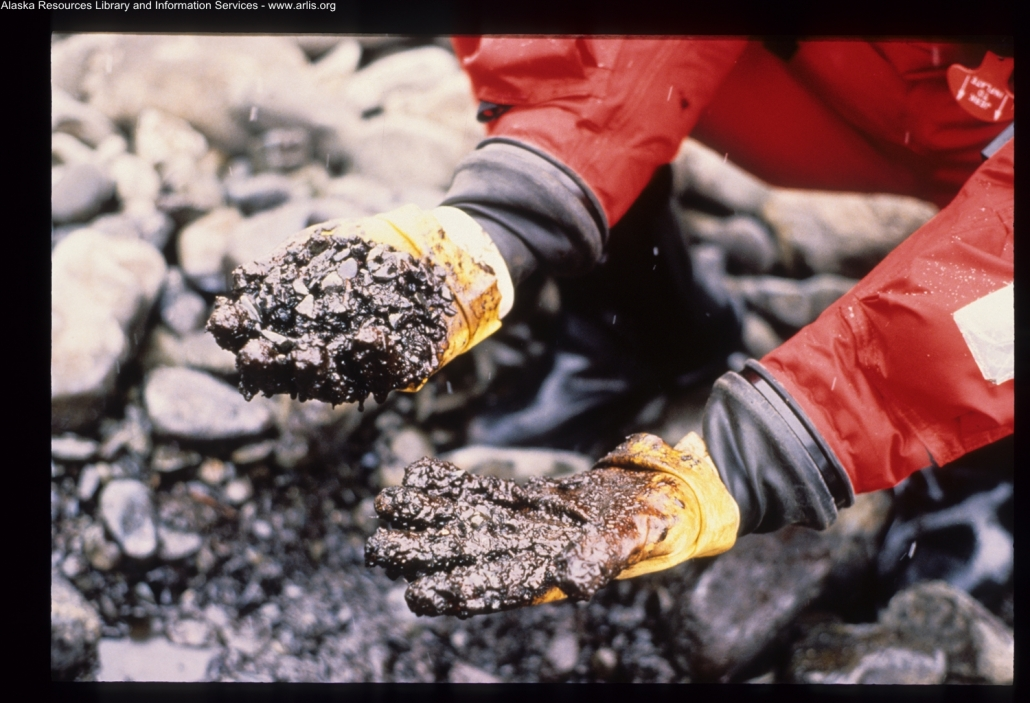 Exxon Valdez oil spill [photo courtesy ARLIS, Alaska Resources Library & information Services]