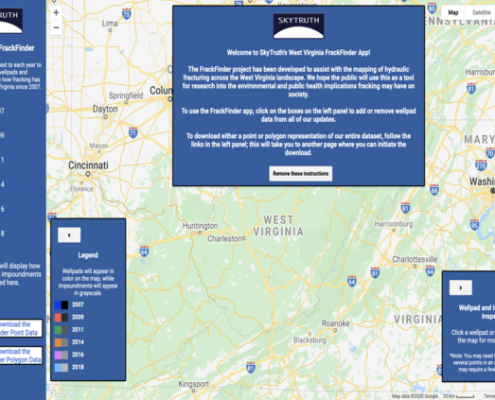 The FrackTracker app for West Virginia